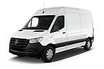 2021 Mercedes Benz eSprinter - 4 Door Cargo Van Angular Front automotive stock photos of front three quarter view