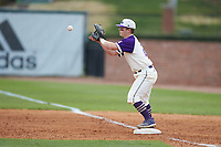 High Point Panthers first baseman Daniel Millwee (22) catches a throw during the game against the against the Campbell Camels at Williard Stadium on March 16, 2019 in  Winston-Salem, North Carolina. The Camels defeated the Panthers 13-8. (Brian Westerholt/Four Seam Images)