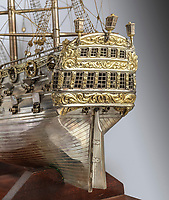 BNPS.co.uk (01202 558833)<br /> Pic: WoolleyandWallis/BNPS<br /> <br /> A beautiful model ship that was owned by a member of legendary rock band The Who has emerged for sale for £6,000.<br /> <br /> The incredibly detailed silver three masted galleon belonged to the band's original bassist John Entwistle from the 1970s until his death in 2002.<br /> <br /> It was passed down his family and is now being sold with auction house Woolley & Wallis, of Salisbury, Wilts.