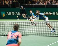 ABN AMRO World Tennis Tournament, Rotterdam, The Netherlands, 19 Februari, 2017, Ivan Dodig (CRO), Marcel Granollers (ESP), Wesley Koolhof (NED)<br /> Photo: Henk Koster