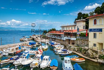 Croatia, Kvarner Gulf, Opatija, district Lovran: harbour | Kroatien, Kvarner Bucht, Opatija, Ortsteil Lovran: Hafen