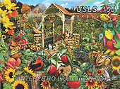 Lori, LANDSCAPES, LANDSCHAFTEN, PAISAJES, paintings+++++Community Garden_72_Sunsout_Nov_2016,USLS155,#l#, EVERYDAY ,puzzle,puzzles