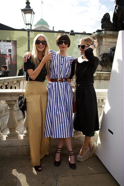 Poppy Delevigne, Erin O'Connor and Laura Bailey