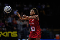 England's Imogen Allison in action during the Cadbury Netball Series Taini Jamison Trophy match between New Zealand Silver Ferns and England Roses at Claudelands Arena in Hamilton, New Zealand on Wednesday, 28 October 2020. Photo: Dave Lintott / lintottphoto.co.nz
