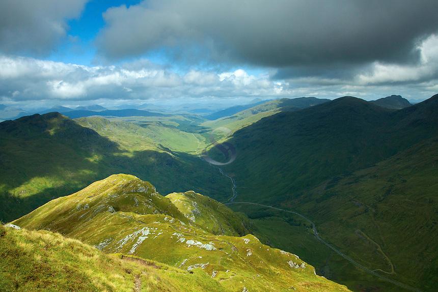 Glen Kinglas from Beinn an Lochain, the Arrochar Alps, Argyll & Bute