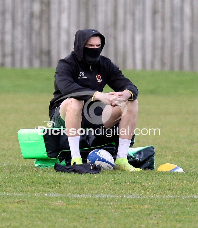 16th February 2021;  Jacob Stockdale during an Ulster Rugby squad pitch session held at Pirrie Park, Belfast, Northern Ireland. Photo by John Dickson/Dicksondigital
