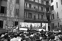 - house occupied in Tibaldi avenue, meeting of the Tenants Union  (Milan, 1975)....- casa occupata in viale Tibaldi, assemblea dell'Unione Inquilini (Milano, 1975)