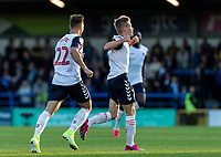 Bolton Wanderers' Ronan Darcy (right) celebrates scoring his side's first goal <br /> <br /> Photographer Andrew Kearns/CameraSport<br /> <br /> The Carabao Cup First Round - Rochdale v Bolton Wanderers - Tuesday 13th August 2019 - Spotland Stadium - Rochdale<br />  <br /> World Copyright © 2019 CameraSport. All rights reserved. 43 Linden Ave. Countesthorpe. Leicester. England. LE8 5PG - Tel: +44 (0) 116 277 4147 - admin@camerasport.com - www.camerasport.com