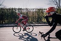 Jenthe Biermans (BEL/Katusha-Alpecin)<br /> <br /> 70th Kuurne-Brussel-Kuurne 2018<br /> Kuurne › Kuurne: 200km (BELGIUM)