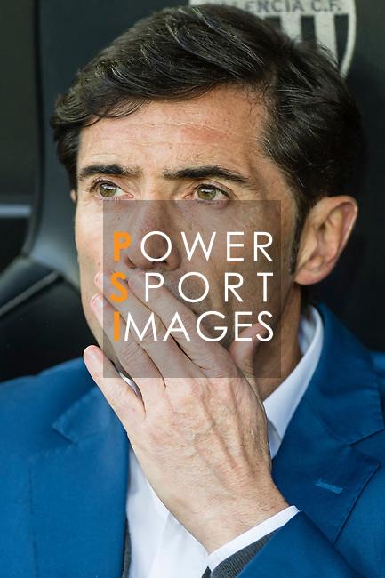 Coach Marcelino Garcia Toral of Valencia CF reacts prior to the La Liga 2017-18 match between Valencia CF and Villarreal CF at Estadio de Mestalla on 23 December 2017 in Valencia, Spain. Photo by Maria Jose Segovia Carmona / Power Sport Images