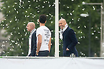 Arbeloa and Zinedine Zidane during the celebration of the victory of the Real Madrid Champions League at Plaza de Cibeles in Madrid. May 28. 2016. (ALTERPHOTOS/Borja B.Hojas)