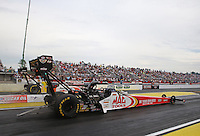 Mar. 17, 2013; Gainesville, FL, USA; NHRA top fuel dragster driver Doug Kalitta during the Gatornationals at Auto-Plus Raceway at Gainesville. Mandatory Credit: Mark J. Rebilas-