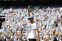 CHAPEL HILL, NC - SEPTEMBER 21: Country music recording artist Chase Rice, and former football player for the University of North Carolina, is honored on the field during a timeout during a game between Appalachian State University and University of North Carolina at Kenan Memorial Stadium on September 21, 2019 in Chapel Hill, North Carolina.