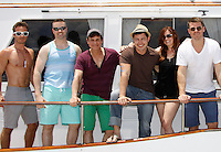 Ryan Carnes, John Driscoll, Christian LeBlanc, Christopher Sean, Melissa Archer, Jeff Branson - Actors from Y&R, Days and General Hospital donated their time to Southwest Florida 16th Annual SOAPFEST and during the weekend took a break to chill on one of the boats to see dolphins and to swim off Marco Island, Florida on May 23, 2015 - a celebrity weekend May 22 thru May 25, 2015 benefitting the Arts for Kids and children with special needs and ITC - Island Theatre Co.  (Photos by Sue Coflin/Max Photos)