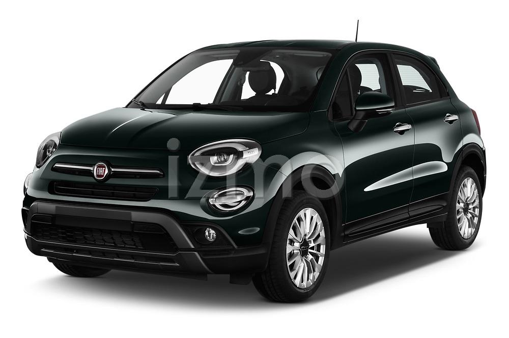 2019 Fiat 500-X Cross 5 Door SUV Angular Front stock photos of front three quarter view