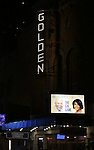 Opening Night Theatre Marquee for James Earl Jones and Cicely Tyson starring in 'The Gin Game'  at the John Golden Theatre on October 14, 2015 in New York City.
