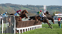 Race favourite Douvan loses ground to Special Tiara in the Betway Queen Mother Champion Hurdle Steeple Chase during Ladies Day of The Festival at Cheltenham Racecourse on Wednesday 15th March 2017 (Photo by Rob Munro/Stewart Communications)