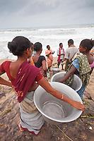 fiishing is hard in the Orissa village close to Puri India