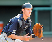May 28, 2009: Catcher Chase Weems (8) of the Charleston RiverDogs, Class A affiliate of the New York Yankees, in a game against the Greenville Drive at Fluor Field at the West End in Greenville, S.C. Photo by: Tom Priddy/Four Seam Images