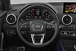Car pictures of steering wheel view of a 2021 Audi Q2 Edition-One 5 Door SUV Steering Wheel