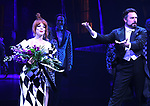 """Leslie Kritzer and Adam Dannheisser during the Broadway Opening Night Performance Curtain Call for """"Beetlejuice"""" at The Winter Garden on April 25, 2019 in New York City."""