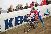 Lars van der Haar (NLD) doing some recon laps<br /> <br /> UCI Worldcup Heusden-Zolder Limburg 2013