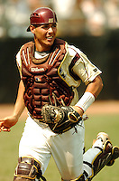Boston College Eagles C Tony Sanchez  in action vs. North Carolina Tar Heels at Shea Field May 16, 2009 in Chestnut Hill, MA (Photo by Ken Babbitt/Four Seam Images)