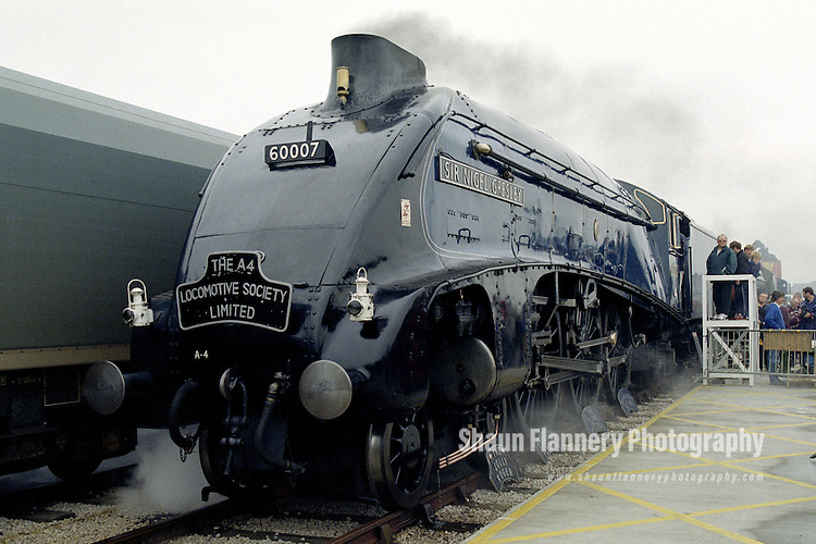 Pix: Shaun Flannery/shaunflanneryphotography.com...COPYRIGHT PICTURE>>SHAUN FLANNERY>01302-570814>>07778315553>>..7th June 1998..Doncaster Railfest 1998 held as a celebration of the 60th anniversary for the world speed record for steam traction at 126mph by the Gresley A4 Pacific Mallard..Sir Nigel Gresley.