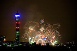 New Year's 2010 2011.Fireworks as seen from Primrose Hill in North London.....pic by Gavin Rodgers/ Pixel 8000.07917221968