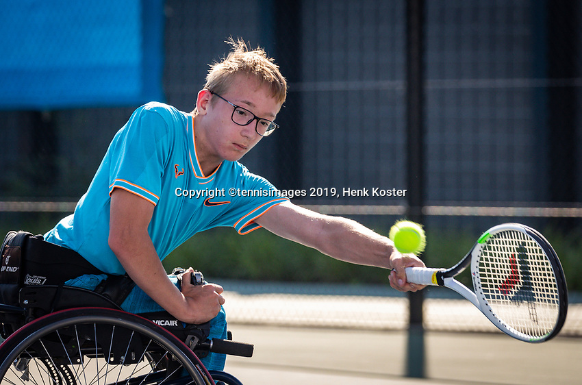 Amstelveen, Netherlands, 19 Augustus, 2020, National Tennis Center, NTC, NKR, National Junior Wheelchair Tennis Championships, Xavier Donker (NED)<br /> Photo: Henk Koster/tennisimages.com