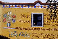 Afrique/Egypte/Env de Louxor/Ancienne Thèbes/El Go Rno: Maison d'un habitant qui a fait le pélerinage à la Mecque