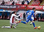 07.02.2021 Hamilton v Rangers: Scott Wright slips past Aaron Martin