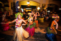 Party scene with Tahitian local dancers