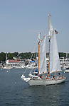 Sshooner in Boothbay Harbor, Lincoln County, Maine, USA