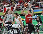Cindy Ouellet, Rio 2016 - Wheelchair Basketball // Basketball en fauteuil roulant.<br /> The Canadian women's wheelchair basketball team plays Netherlands in the quarter-finals // L'équipe canadienne féminine de basketball en fauteuil roulant affronte les Pays-Bas en quarts de finale. 13/09/2016.