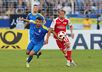 Firat Sucsuz, Simon Hedlund /   /        /      <br /> / Sport / Football / DFB Pokal 1.round 3. Bundesliga 2.Bundesliga /  2018/2019 / 19.08.2018 / FC CZ Jena vs. 1.FC Union Berlin / DFL regulations prohibit any use of photographs as image sequences and/or quasi-video. /<br />       <br />    <br />  *** Local Caption *** © pixathlon<br /> Contact: +49-40-22 63 02 60 , info@pixathlon.de