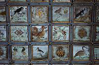 Europe/France/Poitou-Charentes/79/Deux-Sèvres/Oiron : Le Château (XVI°-XVII°) - Salle des gardes - Plafond à caissons peints
