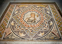 Roman mosaics - Gaia Mosaic. Euphrates Villa, Ancient Zeugama, 2nd - 3rd century AD . Zeugma Mosaic Museum, Gaziantep, Turkey.