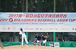 #27 Mitsuura Sakura of Japan bats during the BFA Women's Baseball Asian Cup match between South Korea and Japan at Sai Tso Wan Recreation Ground on September 2, 2017 in Hong Kong. Photo by Marcio Rodrigo Machado / Power Sport Images
