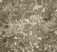 historical aerial photograph Mineral Wells and Fort Wolters during the time when it was the United States Army Primary Helicopter School, Palo Pinto and Parker Counties, Texas, 1969