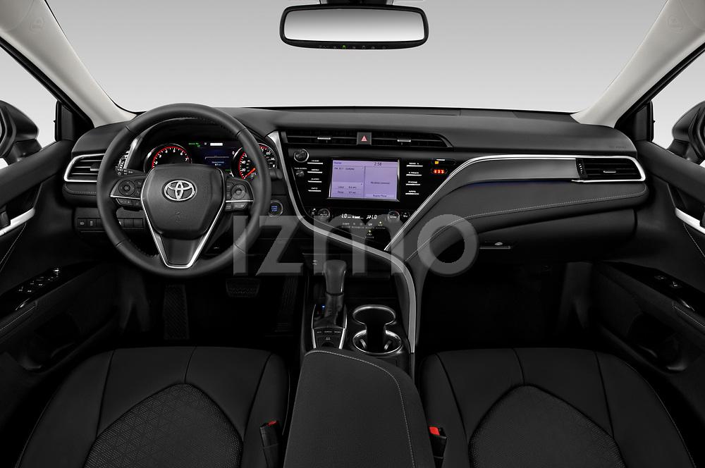 Stock photo of straight dashboard view of 2020 Toyota Camry XSE 4 Door Sedan Dashboard