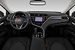 Stock photo of straight dashboard view of 2018 Toyota Camry XSE 4 Door Sedan Dashboard