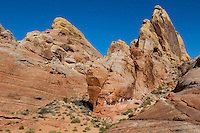 Valley of Fire, Nevada.  White Domes Trail, upper right to lower left.