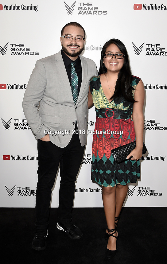 """LOS ANGELES - DECEMBER 6: Alex """"Goldenboy"""" Mendez and Cynthia Mendez attends the 2018 Game Awards at the Microsoft Theater on December 6, 2018 in Los Angeles, California. (Photo by Scott Kirkland/PictureGroup)"""