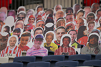 Cardboard cut out spectators, including The Queen,  during the Sky Bet League 2 PLAY-OFF Final match between Exeter City and Northampton Town at Wembley Stadium, London, England on 29 June 2020. Photo by Andy Rowland.