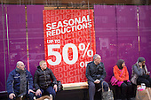 January sales, Oxford Street, London.