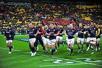 The Lions run in before the 2017 DHL Lions Series All Blacks rugby training session at Hutt Rec in Lower Hutt, New Zealand on Tuesday, 27 June 2017. Photo: Dave Lintott / lintottphoto.co.nz