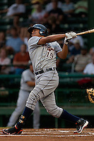 Outfilder Avisail Garcia #19 of the Lakeland Flying Tigers  at bat during the game against the Daytona Beach Cubs at Jackie Robinson Ballpark on April 20, 2011 in Daytona Beach, Florida. Photo by Scott Jontes / Four Seam Images