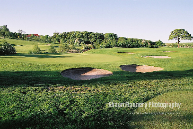 Pix: Shaun Flannery/shaunflanneryphotography.com...COPYRIGHT PICTURE>>SHAUN FLANNERY>01302-570814>>07778315553>>..18th May 2004..............Hickleton Golf Club, Lidgett Lane, Hickleton, Doncaster, DN5 7BE..Golf Course - 2nd green