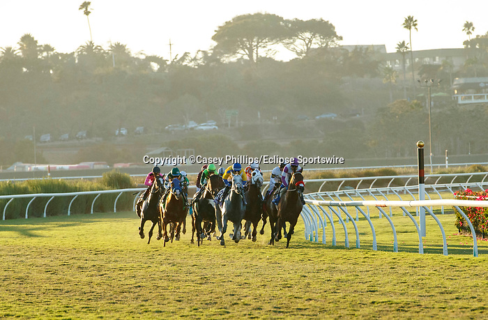 DEL MAR, CA  SEPTEMBER 4: The start of the Del Mar Derby (Grade ll) on September 4, 2021, with Del Mar Thoroughbred Club in Del Mar, CA. (Photo by Casey Phillips/Eclipse Sportswire/CSM)
